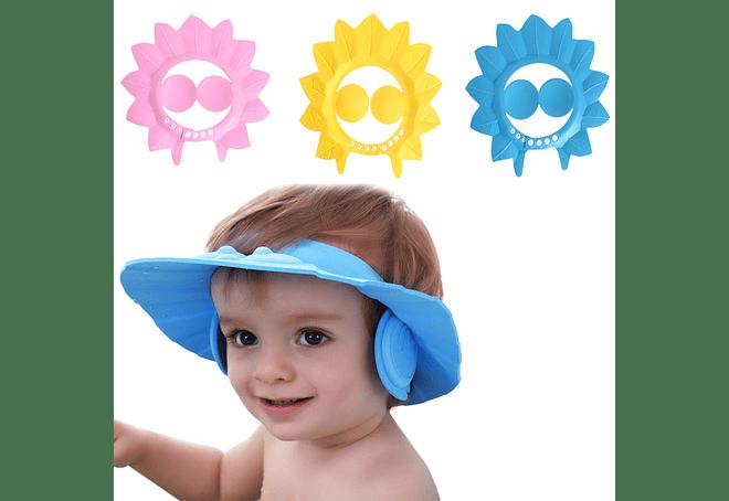 Gorro Visera Baño Ducha Bebé Niños Además Protege Oído d12f184d2b8