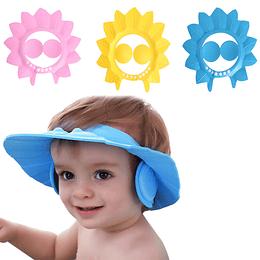 Gorro Visera Baño Ducha Bebé Niños Además Protege Oído
