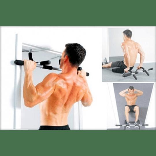 Barra Ejercicios para Puerta Door Iron Gym con Soporte Brazos