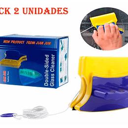 Pack 2 Limpiador Vidrios Magnético