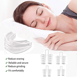 Pack Placa Dental Antirronquido + 4 Antironquido Nariz