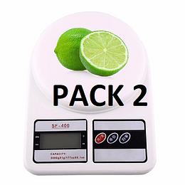 Pack 2 Balanza Gramera Pesa Digital Ideal Para Cocina de 0 Gramos A 7 Kilos