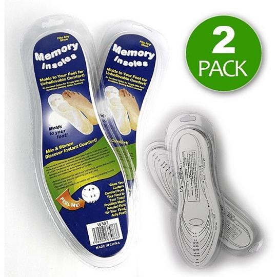 Pack 2 Pares Plantillas Con Memoria Viscoelastica