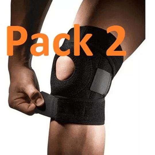 Pack 2 Rodillera Barras Laterales Rotula Reforzada
