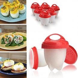 Pack 6 Molde Para Cocer Huevos Eggies Egg Cooker