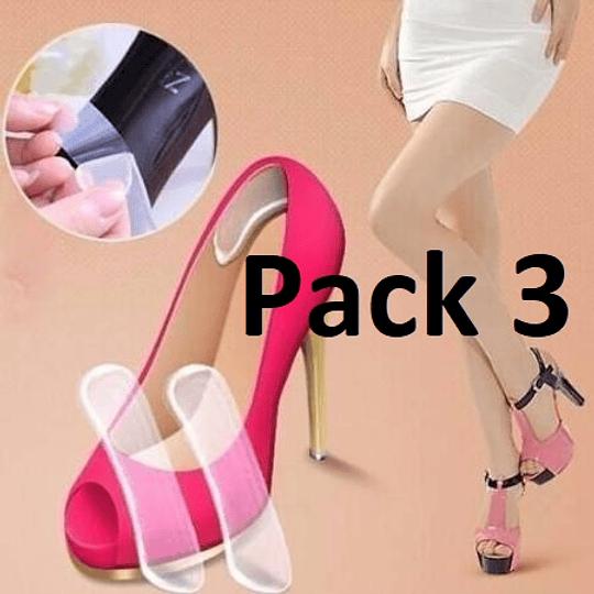 Pack 3 Pares Talonera Adhesiva De Silicona
