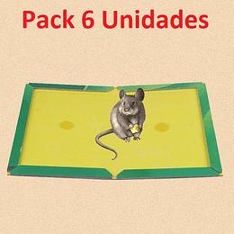 Pack 6 Trampa Ratones Pegajosa Adhesivo