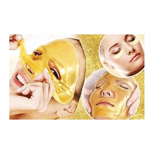 Mascara Facial Colágeno Acido Hialuronico Polvo Oro