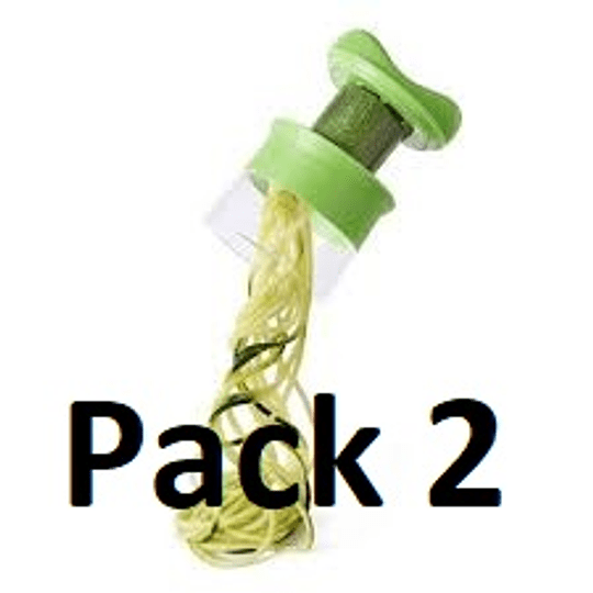 Pack 2 Cortador Rallador De Verduras en Fideos