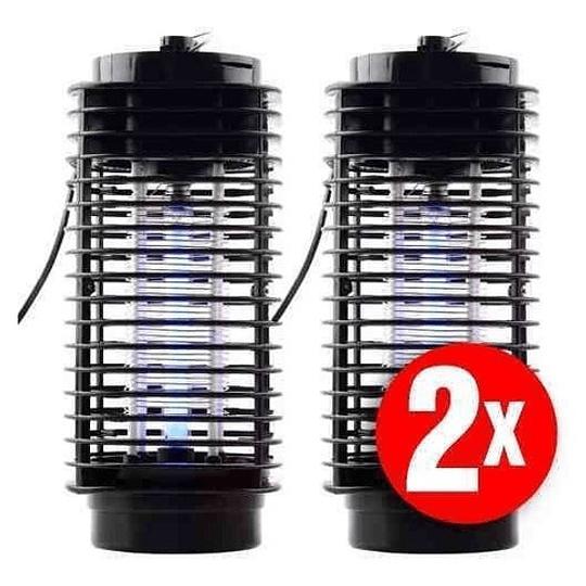 Pack 2 Lampara Eléctrica  Mata Moscas, Mosquitos Y Zancudos