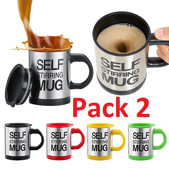 Pack 2 Tazon Mug Con Revolvedor Automático