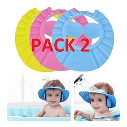 Pack 2 Visera Baño Ducha Bebé Niños Con Protector Oído