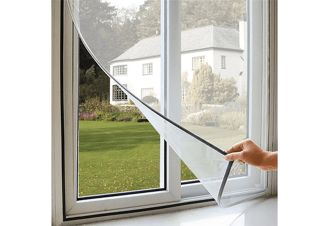 Malla anti mosquitos para ventana con velcro for Zanzariera magnetica ikea