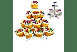 Stand Porta cupcakes Metalico 23 unidades