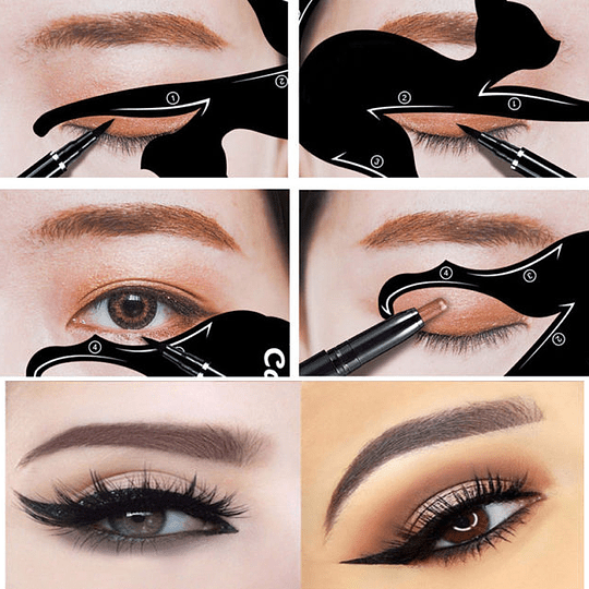 Plantilla Maquillaje Delineado Ojos