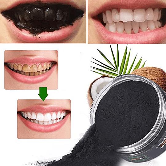Polvo Carbón Blanqueador Dientes