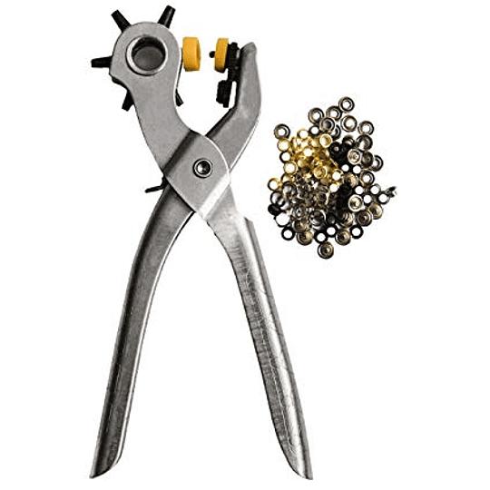 Perforadora para Cinturones, Cueros, Telas Más Ojales