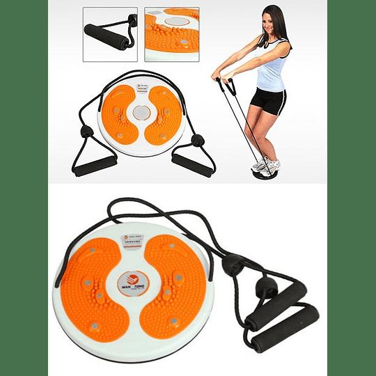 Disco Giratorio Para Adelgazar Cintura con Bandas