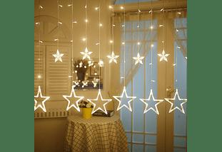 Cortina Lluvia De Estrellas Con Luz Led