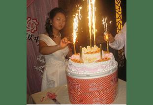Pack 4 Vela Bengala Cumpleaños Fiestas