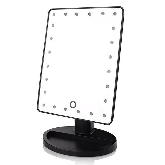 Espejo Rectangular de Maquillaje Touch con Luz LED
