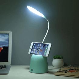 Lampara de Escritorio LED Flexible con Porta Celular