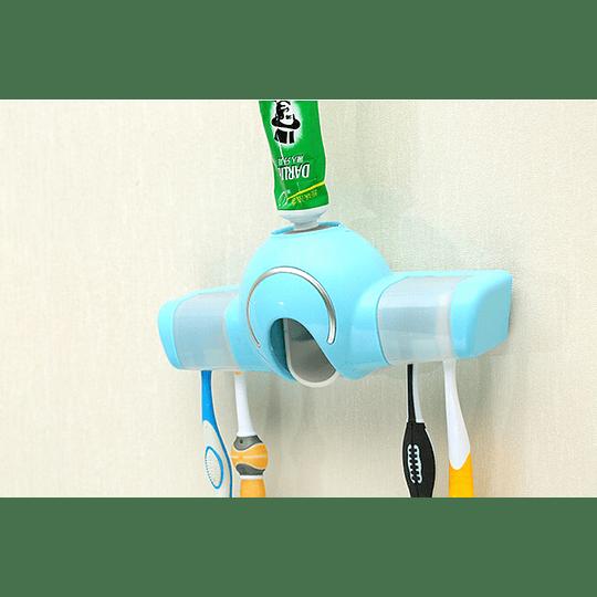 Dispensador Pasta Dental y Contenedor Cepillos de Dientes