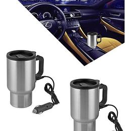 Pack 2 Mug Eléctrico Con Conexión Usb Para Pc O Automóvil