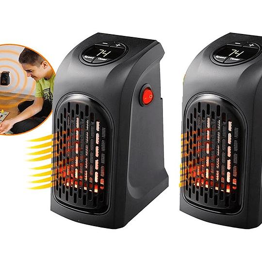 Pack 2 Calentador Calefactor Portátil Eléctrico 400 Wat