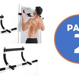Pack 2 Barra Ejercicios para Puerta Door Iron Gym