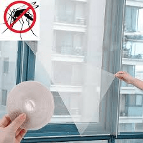 Cortina Anti Mosquitos Para Ventana Con Velcro 130X150 CMS