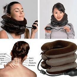 Pack 2 Cojín Cervical Cuello Inflable Dolores Estrés Postura