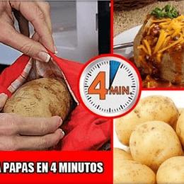 Bolsa para Preparar Papas en Solo 4 Minutos