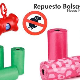 Kit 3 Rollos Bolsa de Repuesto Excremento Mascota