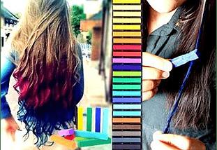 24 Tizas De Colores Para El Cabello Temporal