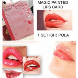 Set 3 Plantilla para Maquillar Labios