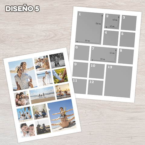 Collage de fotos 30x40 cms.