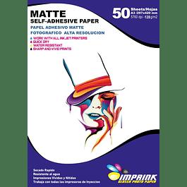Papel Adhesivo Matte A3/128g 50 Hojas