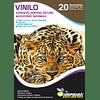 Vinilo Adhesivo Dorado Oscuro Imprimible A4/20hojas