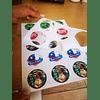 Etiquetas Foto Brillantes Redondas Troqueladas Diametro 6cm/240un
