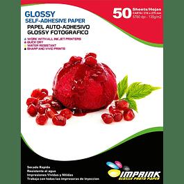 Papel Adhesivo Fotografico Brillante Antioxido CARTA/135g/50 Hojas