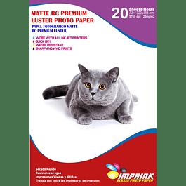 Papel Foto Premium Rc Luster A3+ (33X48) 260g/20hojas