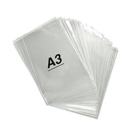 Bolsas Celofan Con Adhesivo Tamaño A3 (32x43cm) 100 unidades