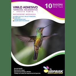 Vinilo Tornasol Adhesivo Holografico Efecto Punto  A4/10 hojas