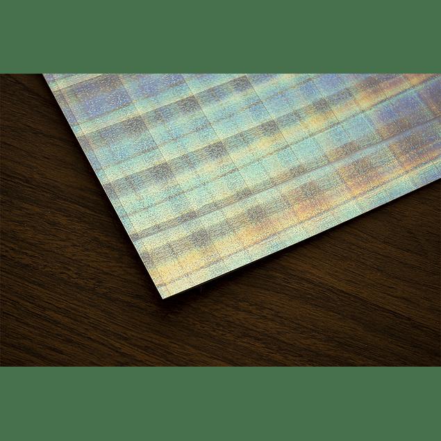 Vinilo Tornasol Adhesivo Holografico Efecto Cuadricula  A4/10 hojas