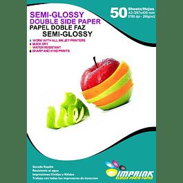 Papel Fotográfico Doble Faz Semi-glossy A3 / 260gr / 50 Hojas