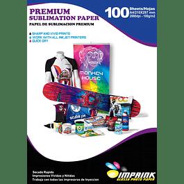 Papel Para Sublimación Premium (reverso amarillo) A4  Resma De 100 Hojas  Secado Rapido