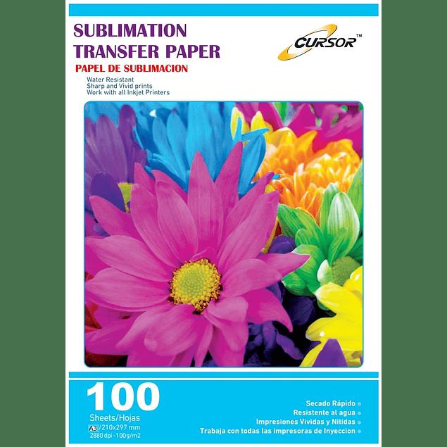 Papel Para Sublimacion Cursor Premium A3 Resma De 100 Hojas - Secado Rapido