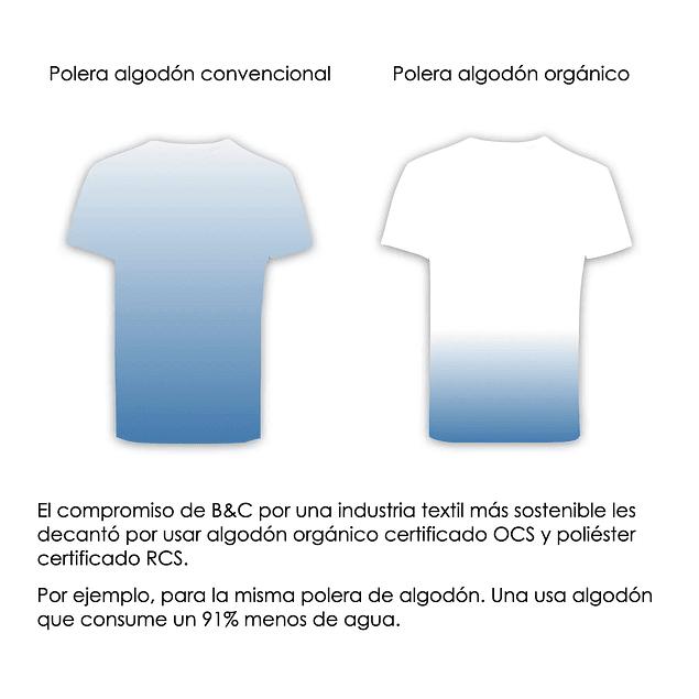 POLERA ALGODON ORGANICO ECOLOGICA VEGANA ANTIALERGICA(color blue Fog)