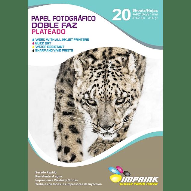 Papel Fotografico doble Faz Plateado A4/315gr/20 Hojas